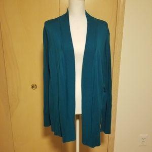 NWOT Worthington sweater cardigan 3X teal
